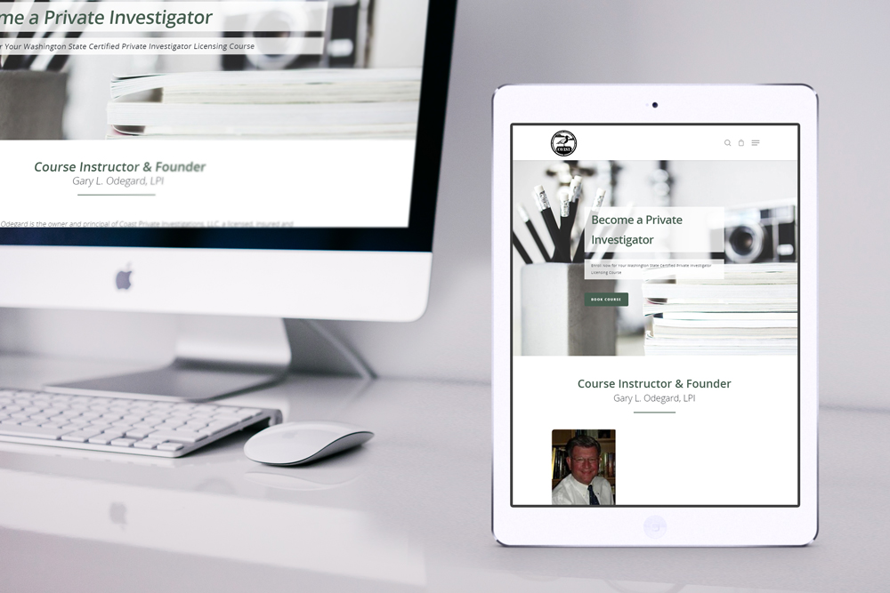 Coast PI Training website design