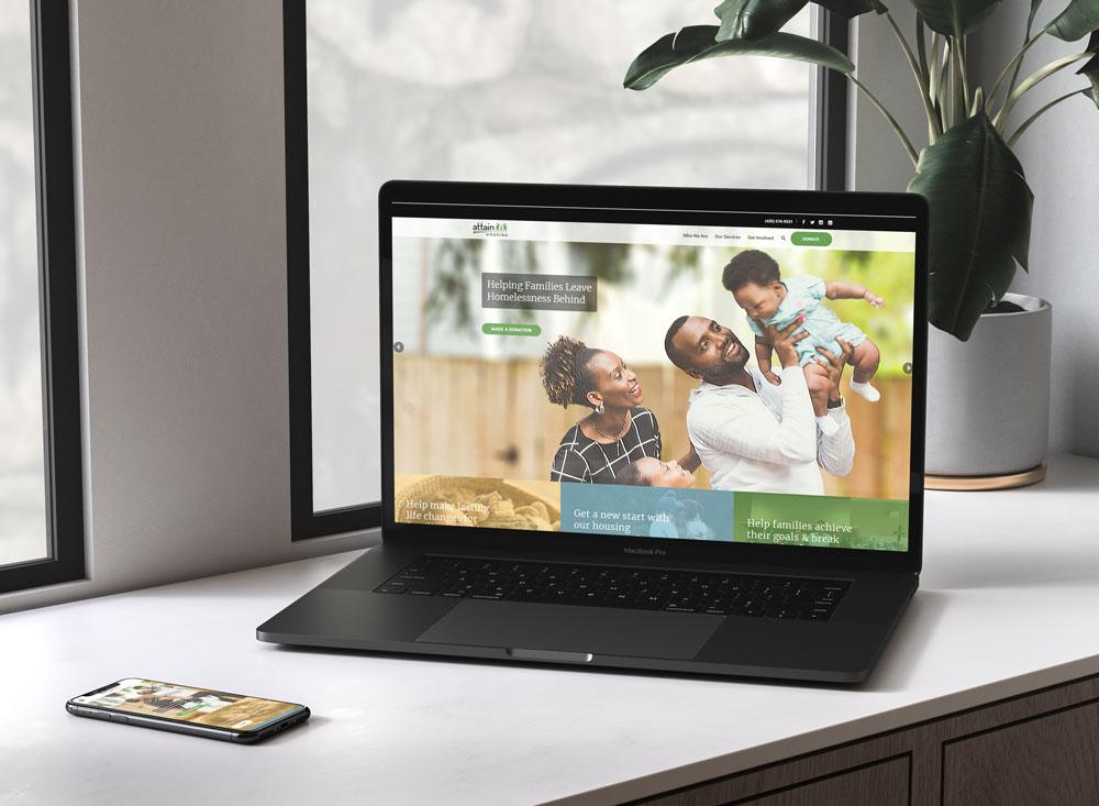 Attain Housing Website Design