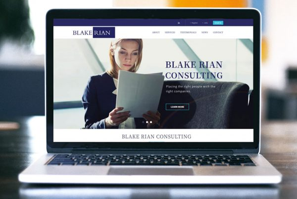 Blake Rian Consulting Website Design
