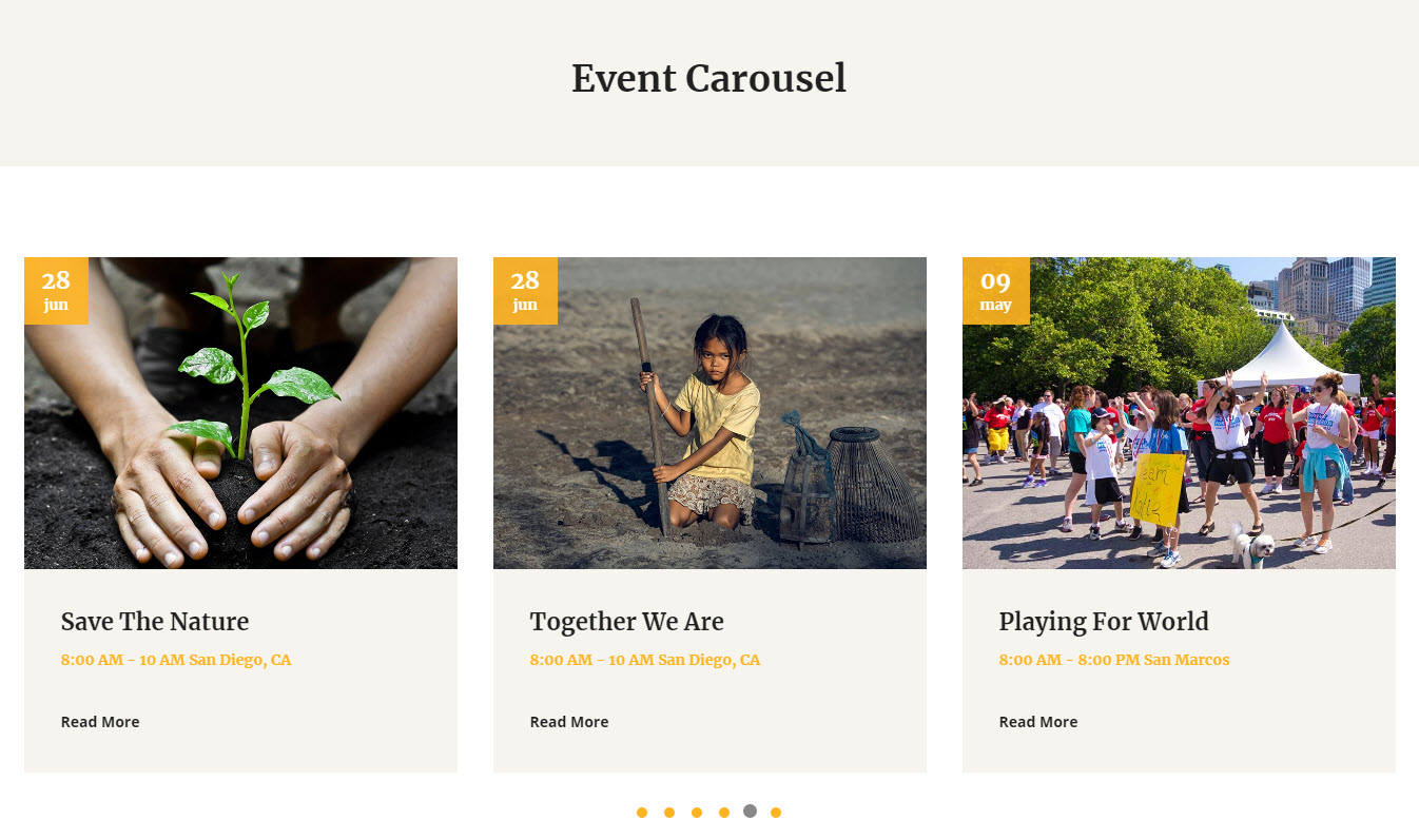 Website Events for Non-profits
